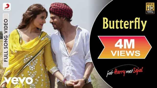 बटरफ्लाई Butterfly Lyrics In Hindi - Sunidhi Chauhan
