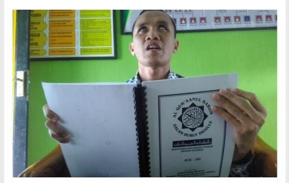 Fuad, Pemuda Tuna Netra Yang Hafal Al-Quran dan Guru di Magelang