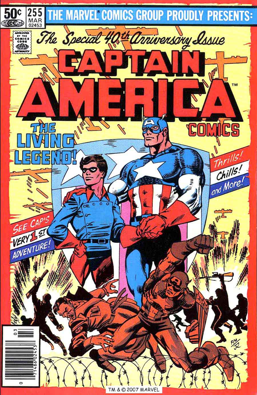 Captain America #255 marvel 1980s bronze age comic book cover art by  Frank Miller
