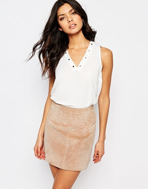 Stud detail vest, $50.83 from River Island