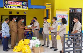 Bupati Zahir Dapat Sarana Peralatan Petugas Medis Covid-19 Dari Kementerian ATR/ BPN Asahan