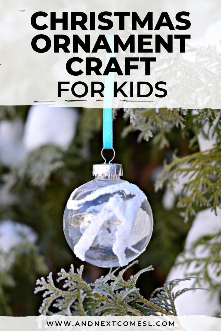Homemade Christmas ornament crafts for kids to make and give as homemade gifts