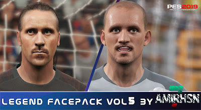 PES 2019 Legend Facepack Vol 5 by Amir.Hsn7