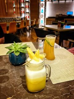Pineapple Colada and Mandarin Iced Tea, Wahaj, Hyatt Regency, Al Kout Mall