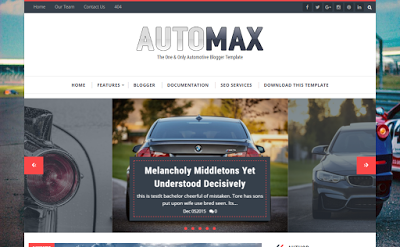 Automax mobile friendly blogger template free download