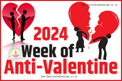 2024 Anti-Valentine Week List, 2024 Slap Day, Kick Day, Breakup Day Date Calendar
