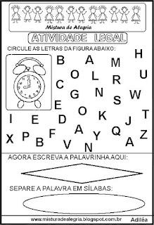Atividade legal de alfabetização R