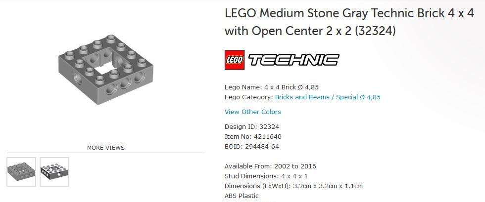 2 DARK GRAY 1x6 Technic Ski Brick Bricks  ~ Lego  ~ NEW