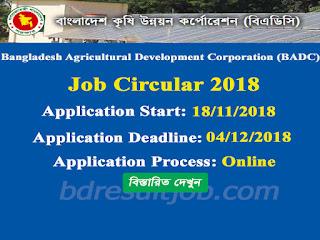 Bangladesh Agricultural Development Corporation (BADC) Job Circular 2018