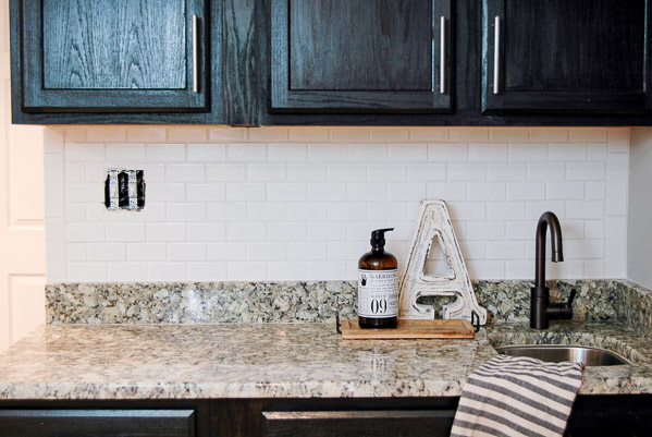 installing subway tile