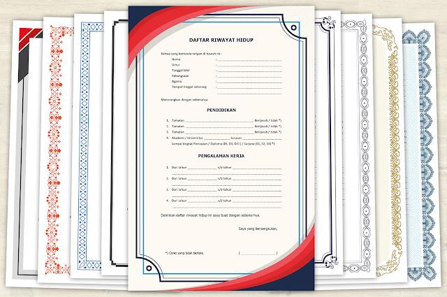 10 Contoh Daftar Riwayat Hidup Kosong untuk Tulis tangan File (DOC PDF JPG)