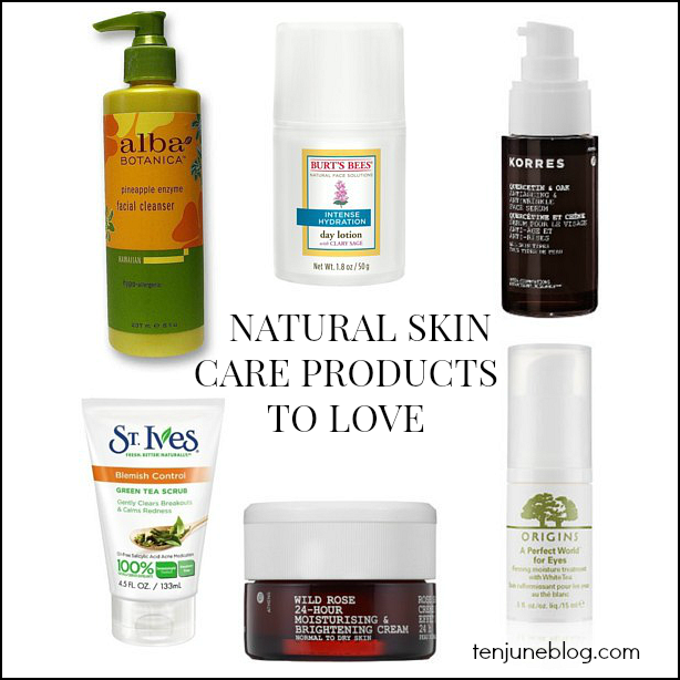 Natural Skin Care Products: Ten June: Six Natural Skin Care Products To Love