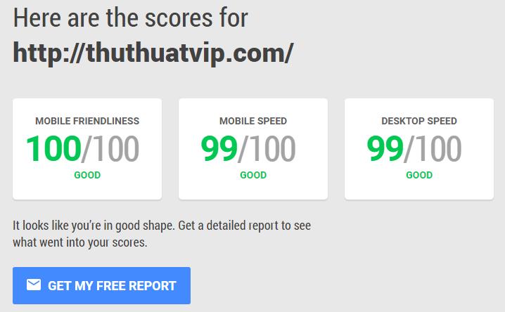 Công cụ test tốc độ website, mobile-friendly