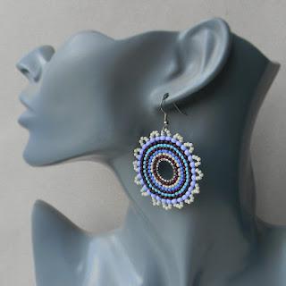 купить летние украшения серьги бисерные круглые оригинальные