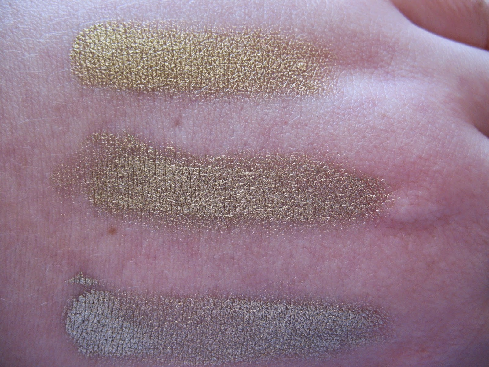 Sleek Illamasqua Metalic Cream Eyeshadow Comparison