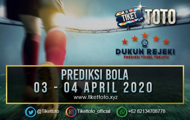 PREDIKSI PERTANDINGAN BOLA 03 – 04 APRIL 2020