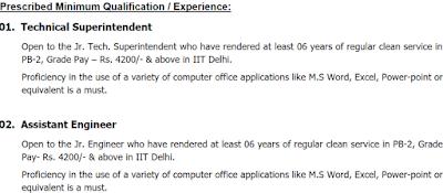 IIT Delhi Recruitment Notification 2018 || Group B Posts
