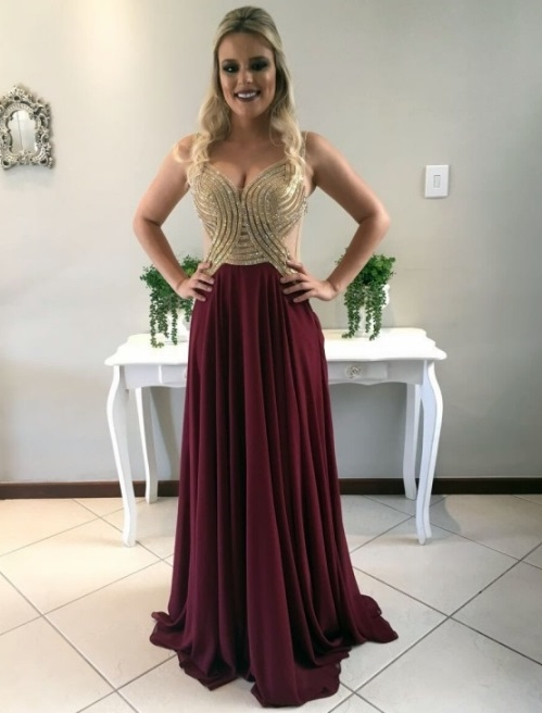 vestido marsala