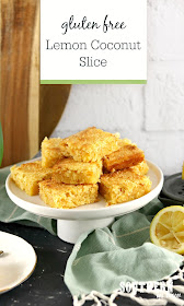 Gluten Free Lemon Coconut Slice Recipe