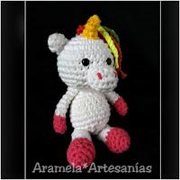http://amigurumislandia.blogspot.com.ar/2018/07/amigurumi-unicornio-mini-aramela-artesanias.html