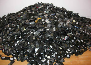pile of cell phones