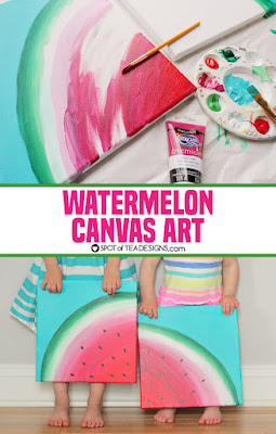 diy watermelon canvas art