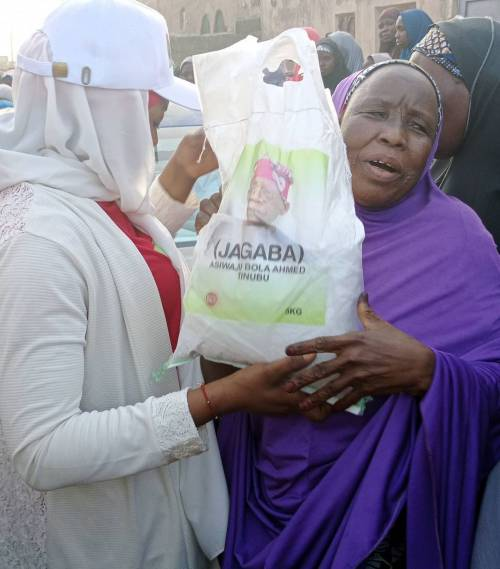 Tinubu Breaks Silence As Bags Of Rice Branded With His Face Are Distributed In Northern States