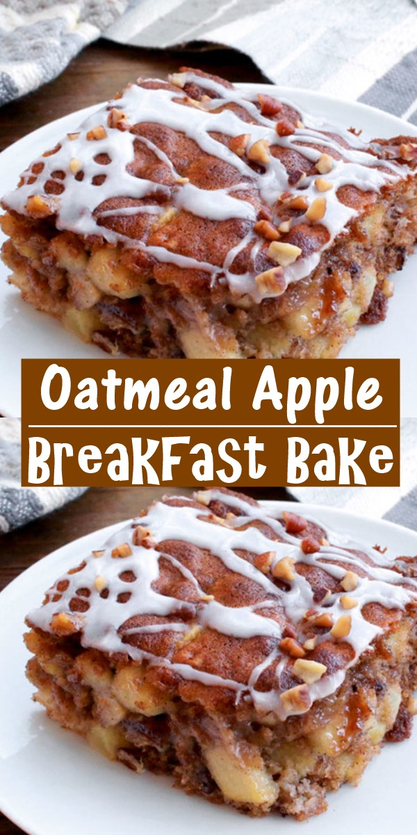 Oatmeal Apple Breakfast Bake #breakfastideas
