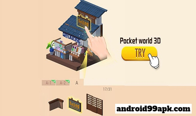 Pocket World 3D – Assemble models unique puzzle v1.2.0 Apk + Mod (File size 90 MB) for android