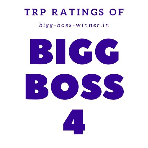 Bigg Boss 4 TRP Ratings