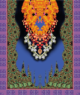 Lavanya-Geometric-Textile-Kaftan 33a