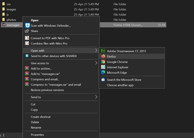 Open With Hasil Backup Telegram