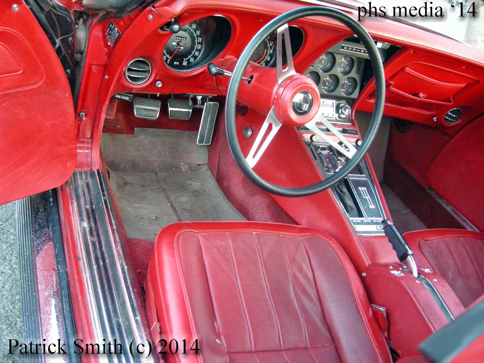 As Found Series 1971 Corvette 454 Ls5 Four Speed Phscollectorcarworld 1960 Studebaker Lark Wiring Diagram Factory Red On Interior Car Options Listed Are Am Fm Stereo Tilt Wheel Rear Defrosterpower Windows Power Steering And Disc Brakes
