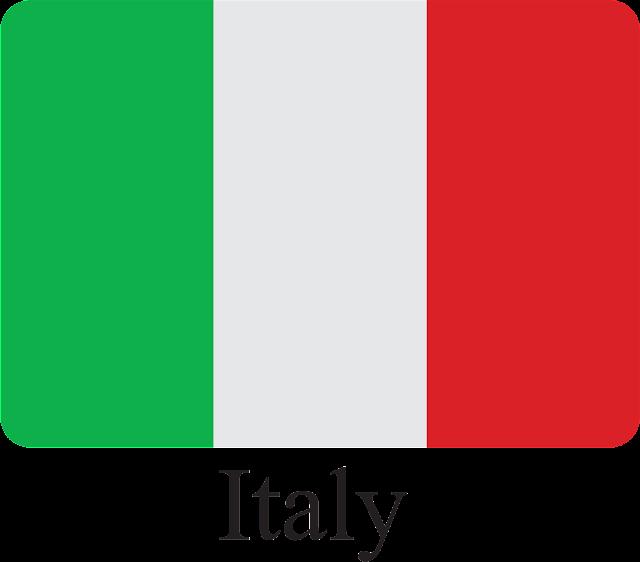 İtalya Bayrağı Vektörel