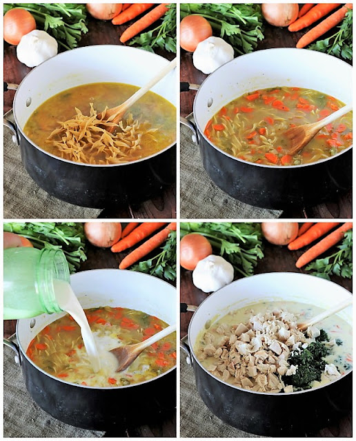 How to Make Creamy Turkey Soup with Spinach image