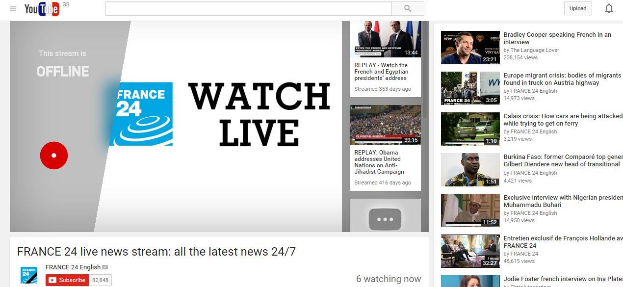 live news france