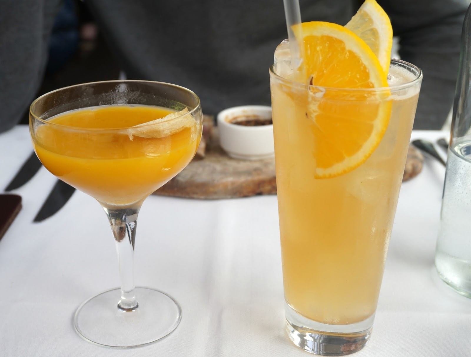 passionfruit cocktail in glass
