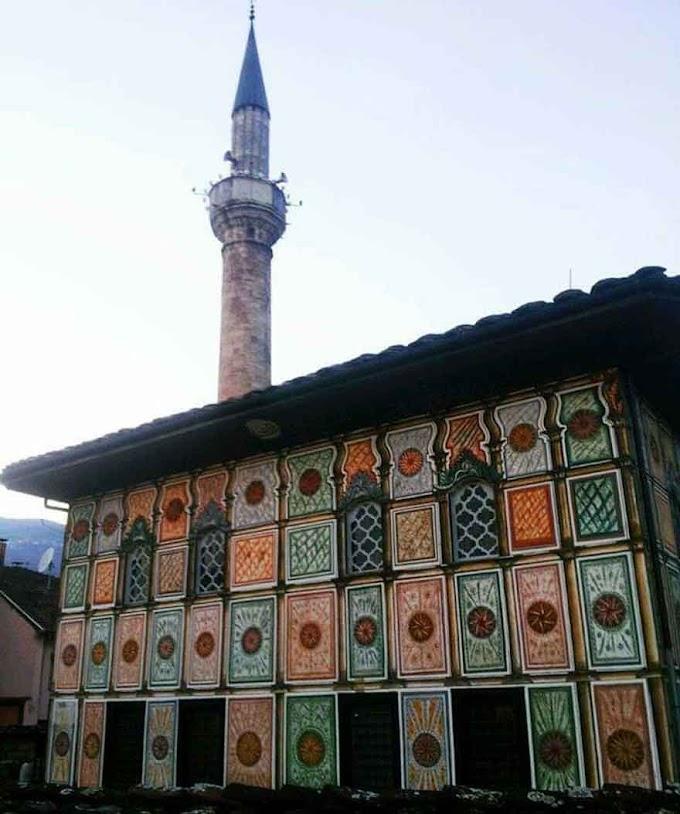 Die 'Bunte Moschee' in Tetovo