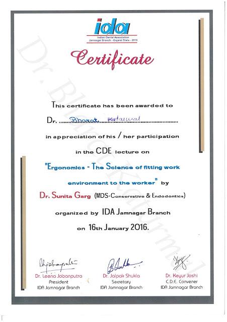 Dental Ergonomics by Dr. Sunita Garg