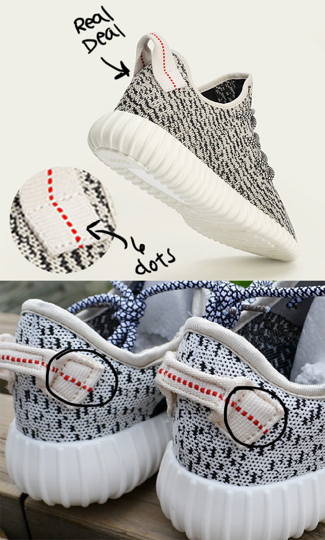 a0a75e211 How to spot the fake Yeezy Boosts