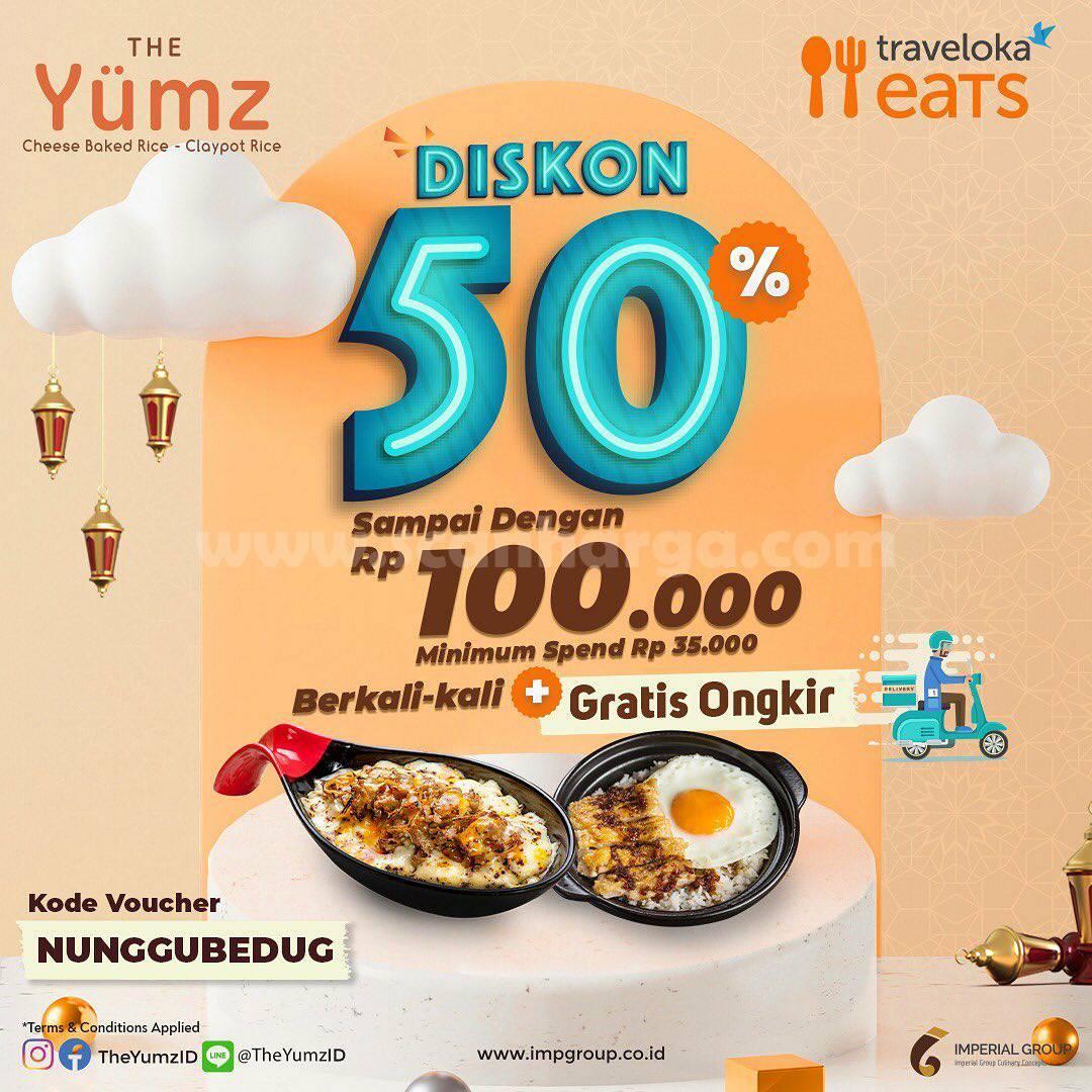 Promo THE YUMZ Diskon hingga Rp. 50.000 Khusus pemesanan via Traveloka Eats