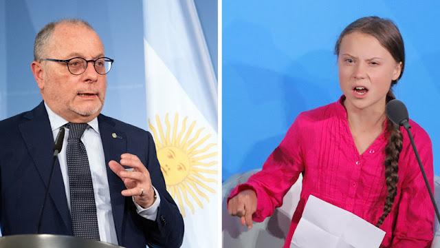"""""""Argentina contamina muy poco en comparación con otros países"""": la respuesta del canciller argentino a Greta Thunberg"""