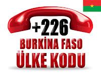 +226 Burkina Faso ülke telefon kodu