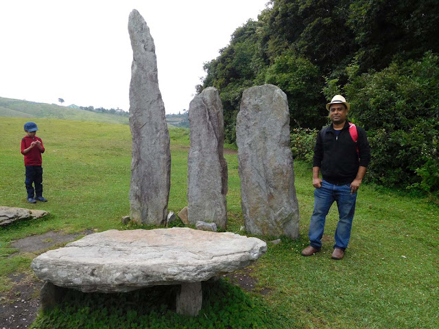 Monoliths outside the Mawphlang Sacred Forest, Meghalaya