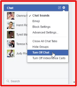 how to make chat on facebook offline