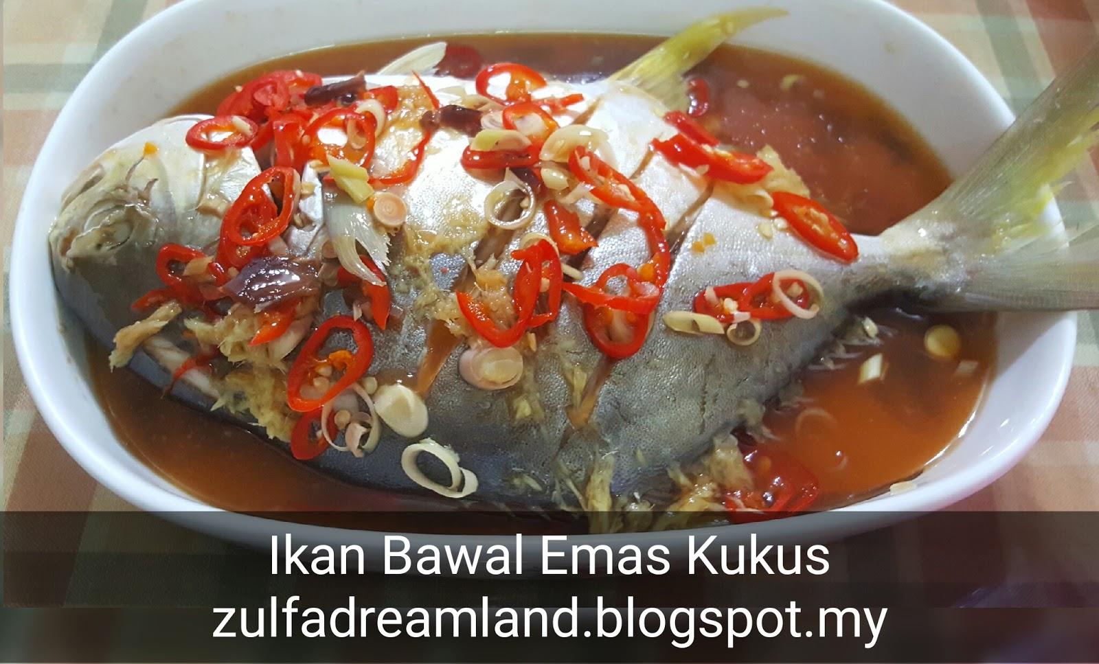 Zulfaza Loves Cooking Ikan Bawal Emas Kukus Abang Sado
