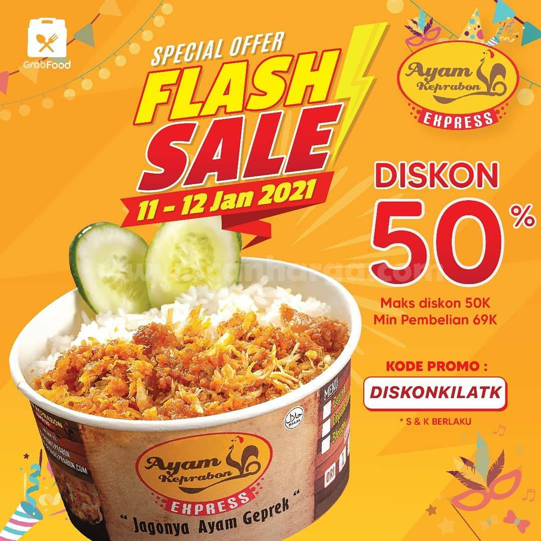 Ayam Keprabon Promo Flash Sale Diskon 50% Pemesanan Via Grabfood