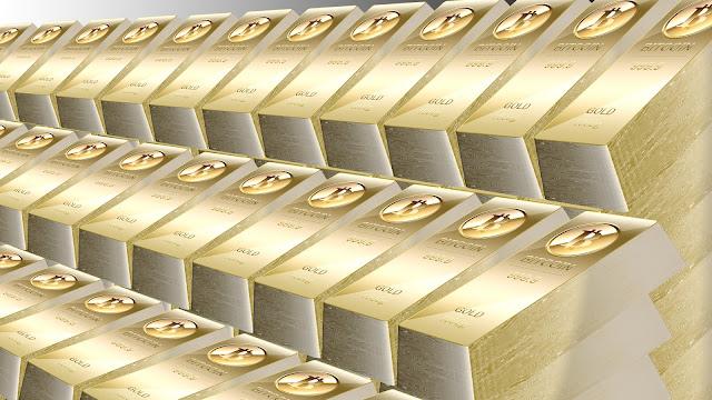 ビットコイン金の延べ棒壁紙・その1