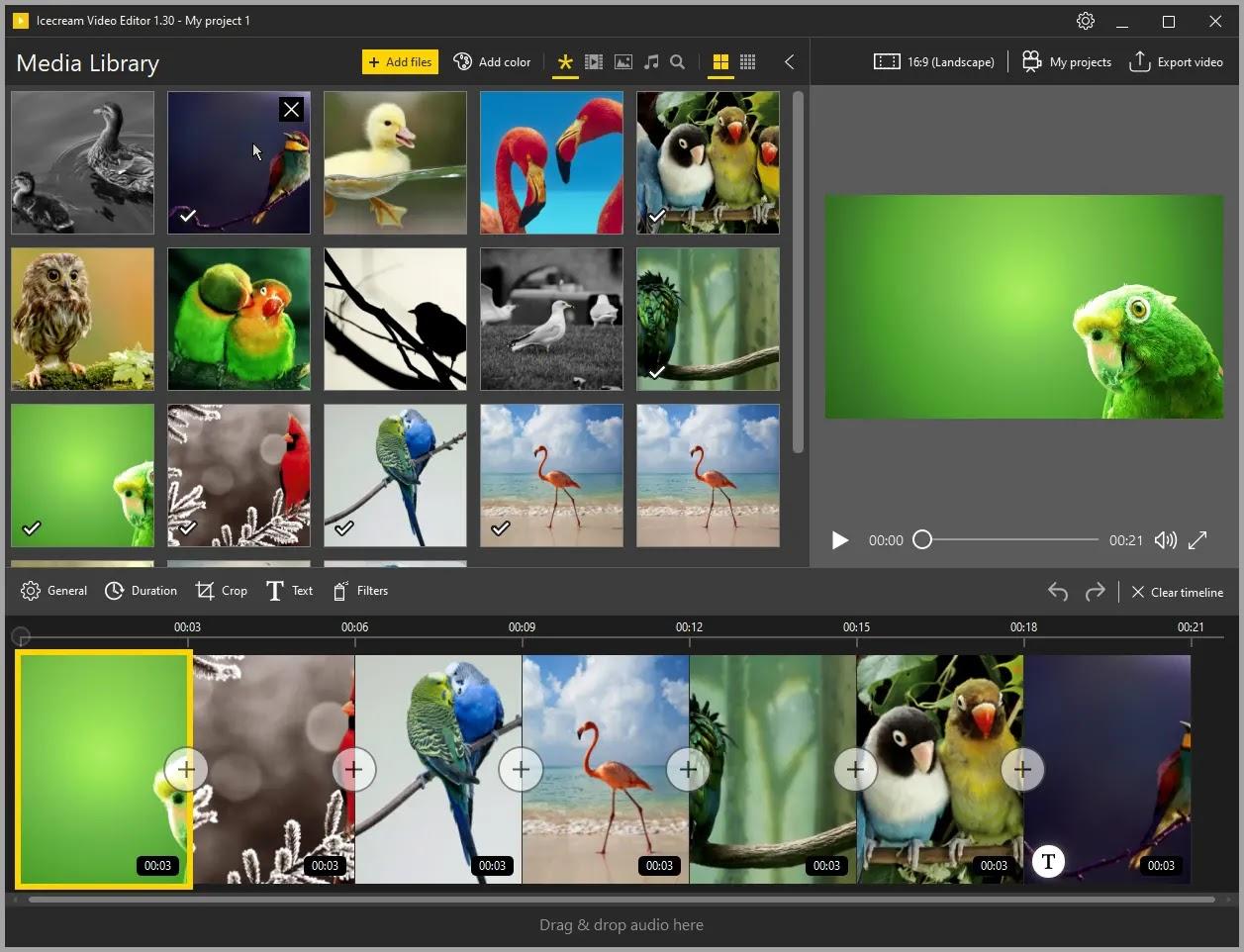 Icecream Video Editor :  Επεξεργαστείτε βίντεο  ή δημιουργήστε νέα βίντεο με εκπληκτικά εφέ από φωτογραφίες