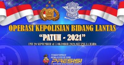 Banner Operasi Patuh 2021 Polda NTB